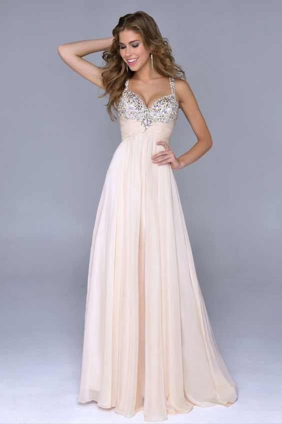 2014 Prom Dresses/Cheap Prom Dresses/ Bust Pleated Bodice With ...