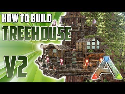 How To Build A Treehouse V2 Ark Survival Evolved Youtube Ark