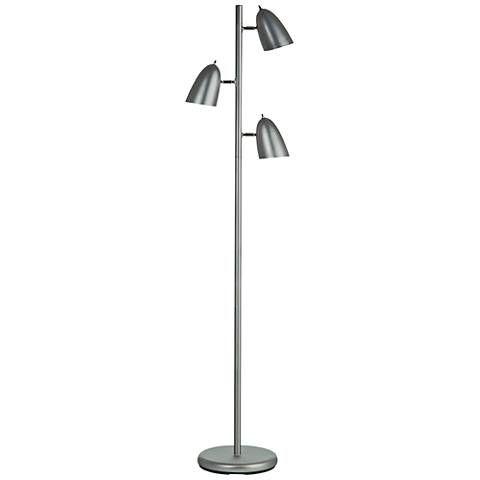 Metron Satin Chrome Metal 3 Light Tree Floor Lamp 60e94 Lamps Plus Tree Floor Lamp Floor Lamp Lamp