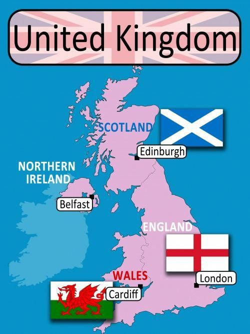 carte royaume uni en anglais Épinglé sur Inglés