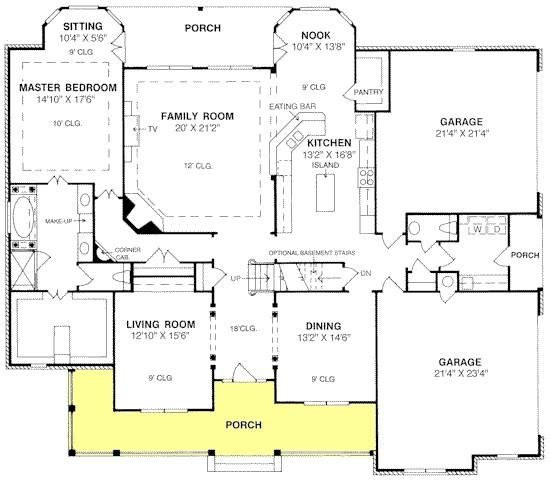 Kitchen Breakfast Room Traditional Master Bedroom: Traditional Plan: 3,914 Square