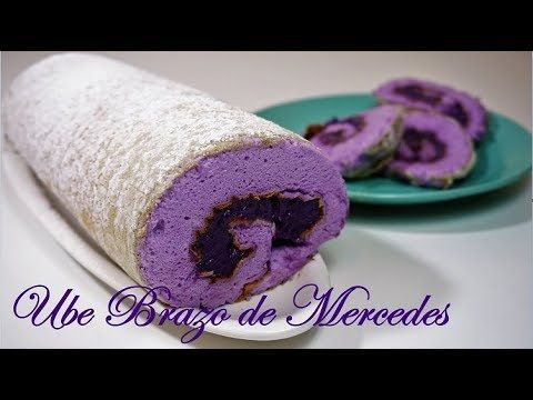 Ube Brazo De Mercedes Brazo De Ube Youtube Sweet Recipes Desserts Desserts Filipino Desserts
