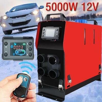 5000W 12V Air diesel Fuel Heater For Truck Motor-home RV Boat w// Knob switch US^