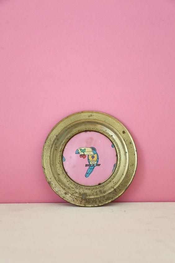 Parrot Metal Decorative Plate #3