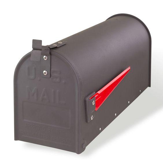 boite aux lettres am ricaine acier gris bo te aux lettres pinterest. Black Bedroom Furniture Sets. Home Design Ideas