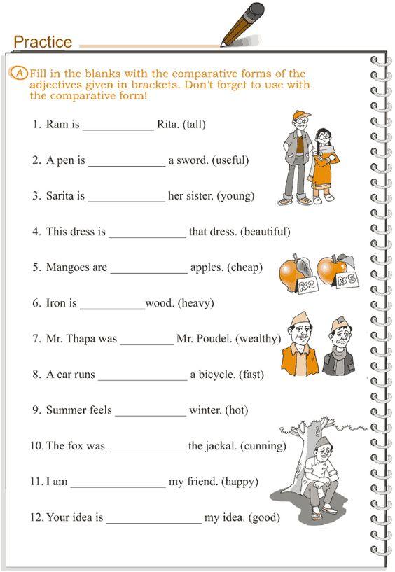 Grade+3+Grammar+Lesson+5+Adjectives++comparison | English ...