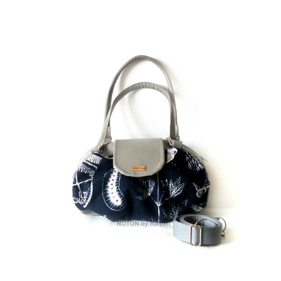 Grey and Blue Vegan Hobo Bag, by NOTON by Raquel - pinned by pin4etsy.com