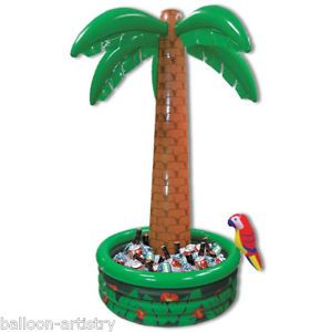 6ft Tropical Luau Hawaiian Garden Party Palm Tree Inflatable Drinks Cooler BA   eBay