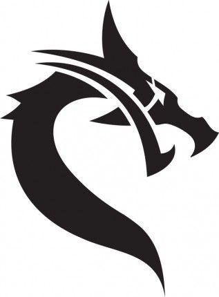 Goth Dragon Head racquet stencil