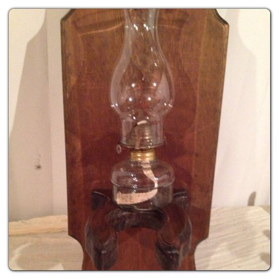 vintage wood hurricane oil lamp holder shelf on etsy 16