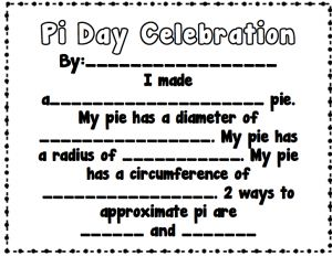 It is a picture of Bright Pi Day Worksheets Printable