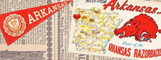 #Free Time Line Cover July Vintage #Arkansas #Razorback