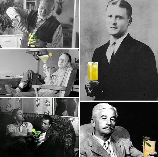 10 Famous Fiction Writers and Their Cocktails