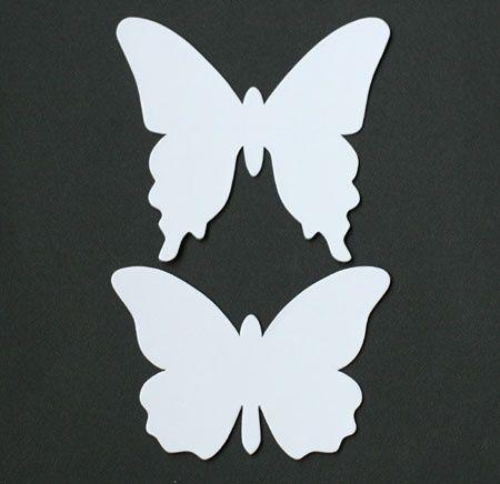 Butterfly wall decor pattern