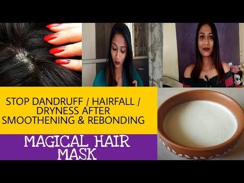 Stop Dandruff After Smoothening Rebonding Homemade Hair Mask For Smoothening Rebonding In 2020 Homemade Hair Products Homemade Hair Mask Hair Mask For Dandruff