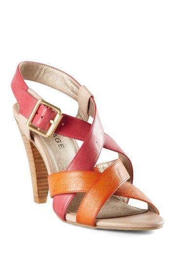 Pink + Orange Strappy sandals