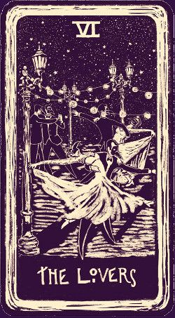 The Lovers - Night Visions Tarot - James R Eads - self published 2013