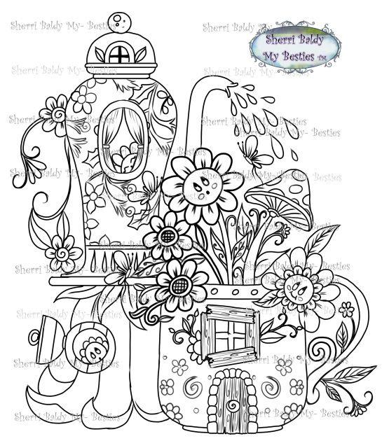 My Besties Flower Town Garden Houses Cute Coloring Pages Garden Coloring Pages Coloring Books