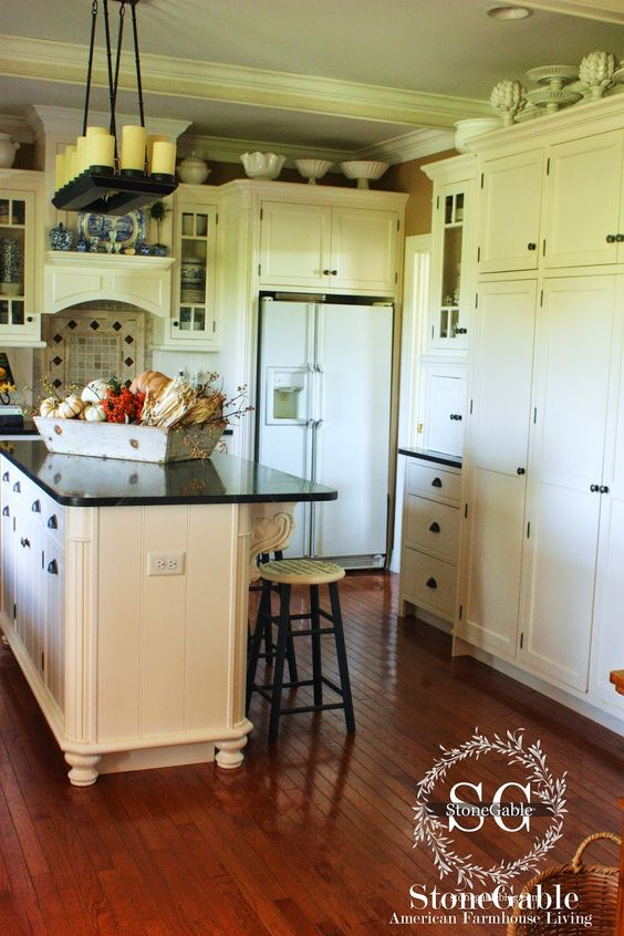 10 Elements Of A Farmhouse Kitchen Pinterest Pedestal Farmhouse Kitchen Island And Cabinets