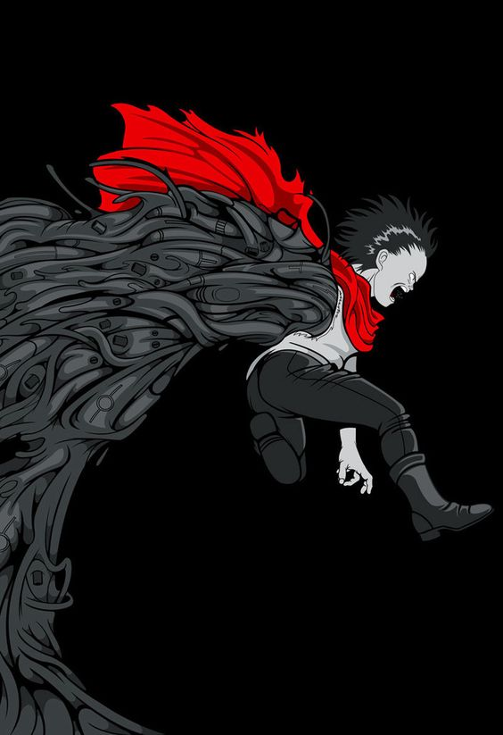 "Akira - ''Tetsuo"" - Samuel Ho ----- http://www.bottleneckgallery.com/collections/where-is-my-mind"