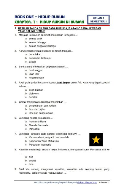 Soal Tematik Kelas 6 Semester 1 Dan Kunci Jawaban