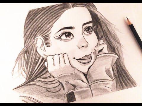 رسم جميل لفتاة بقلم الرصاص Beautiful Drawing Of A Girl In Pencil Youtube Drawings Female Sketch Art