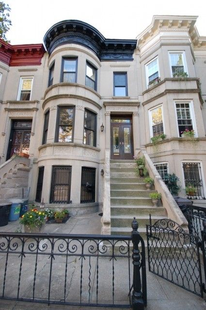 Pin by reimagine designs on exterior design pinterest for Brownstone home designs