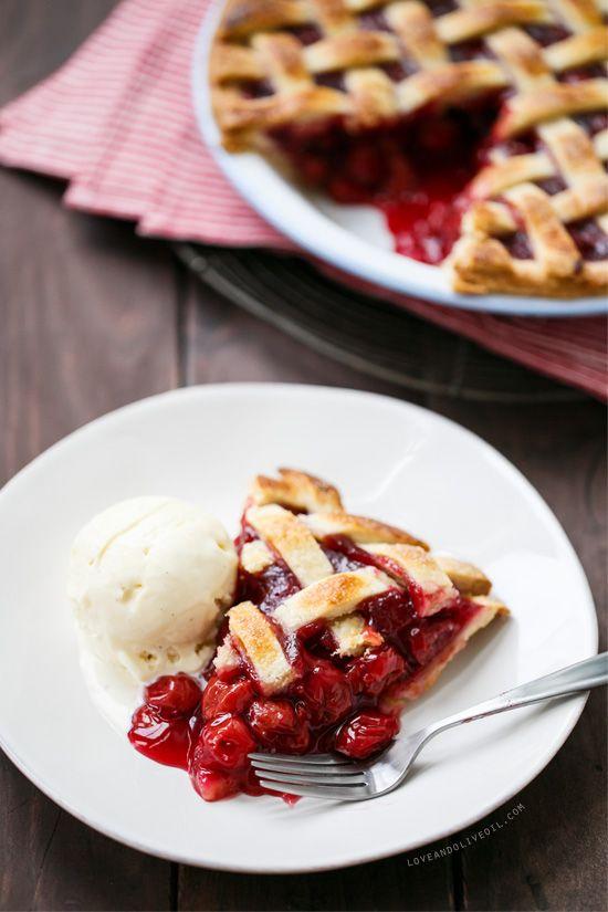 Sour Cherry Pie with Lattice Top