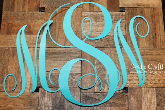 How to create a monogram in the Silhouette studio! good and easy tutroial