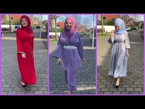 تنسيقات ملابس محجبات للدخول المدرسي 2020 الجزء الثاني Youtube Fashion Hijab Lookbook