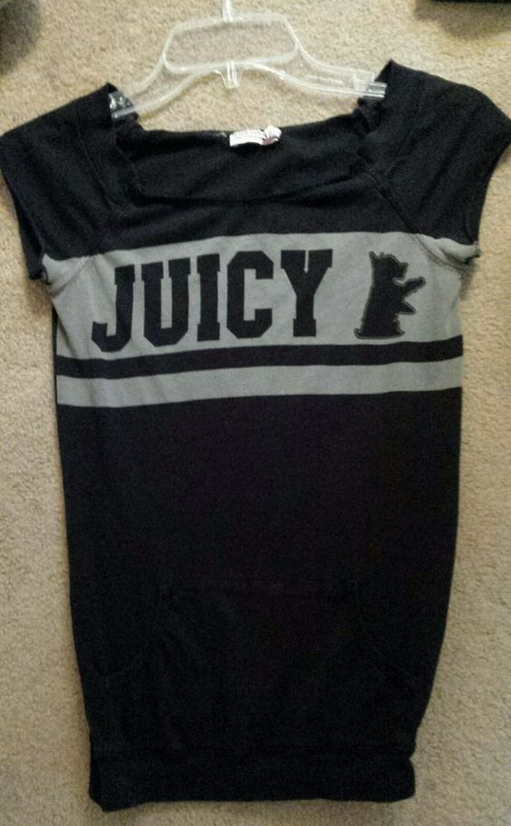 Juicy Couture top juniors' womens size P in Clothing, Shoes & Accessories, Women's Clothing, Sweats & Hoodies | eBay