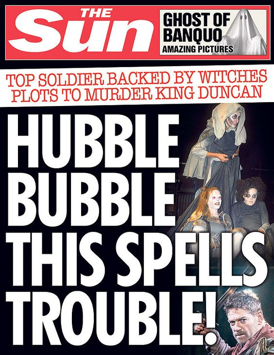 Macbeth.   10 Shakespeare Plays As Sun Front Covers