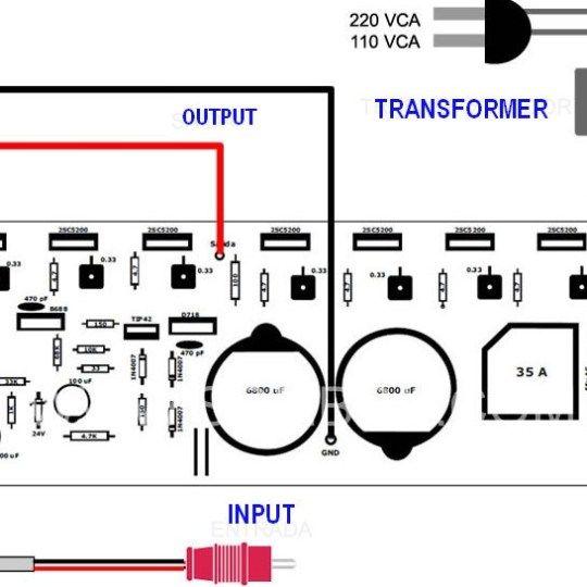 400 Watt 70 Volt Amplifier Schematic Pcb Layout Design With