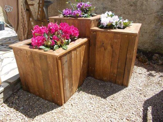 Jardini re tage meubles en bois de palette r cup - Meuble bois recup ...