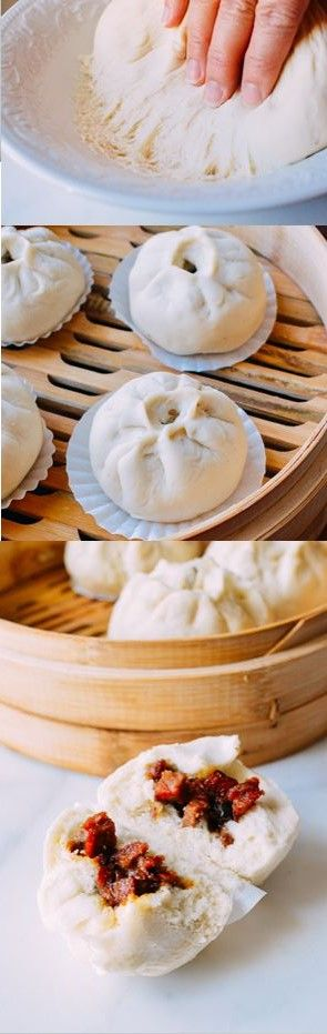 Steamed BBQ Pork Buns, Char Siu Bao, #dimsum #charsiubao #bbqporkbuns