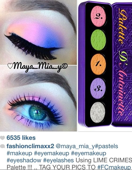 Bright Eye Shadow colors