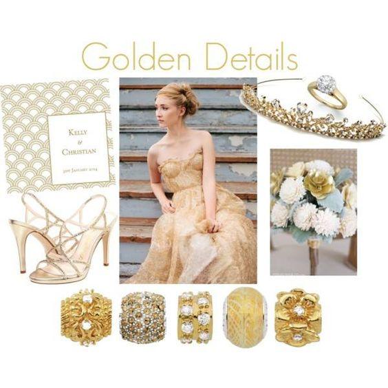 Golden details Persona bracelet beads