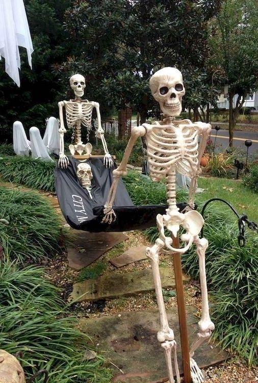 Halloween Skeleton Ideas 2020 Creative diy halloween ideas for frontyard decoration 00001 in