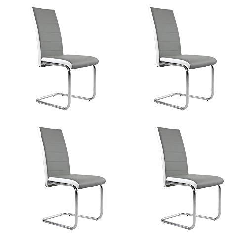 Qihang Uk Dinning Room Chairs Set Of 4 Dinging Chairs With Lumbar Support Padded Seats For Kitchen Table Mode Dining Chairs Dinning Room Chairs 4 Dining Chairs