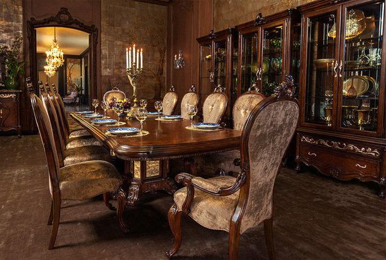The Platine de Royale Formal Dining Room Collection in Light Espresso