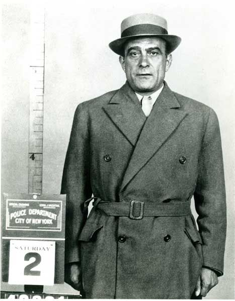 Vito Genovese arrested on a murder charge, but went to jail on a drug charge.