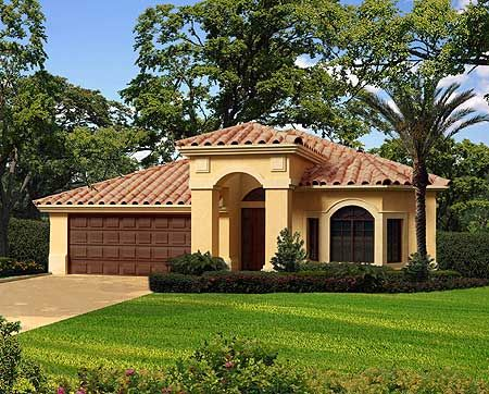 Plan 32162aa three bedroom mediterranean styles of for Florida mediterranean house plans