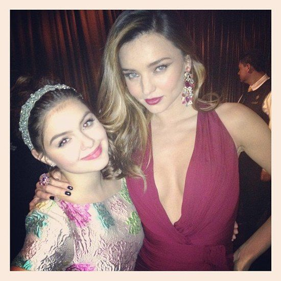 Miranda Kerr: Ariel Winter was excited to meet Miranda Kerr at the InStyle bash.  Source: Twitter user arielwinter1