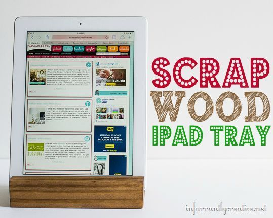 DIY Projects | DIY Gifts | Turn a scrap piece of wood into an iPad stand!