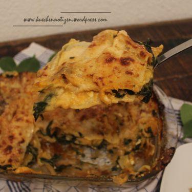 Lasagne mit Kürbis und Spinat