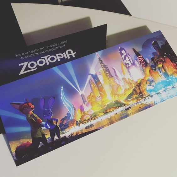 Benson Shum - Zootopia wrap party invite! :D #zootopia #party...