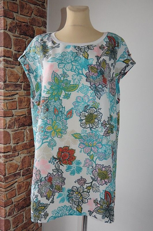 Next Tunika Kremowa Kwiaty Prosta 46 Vinted Fashion Floral Tops Dresses