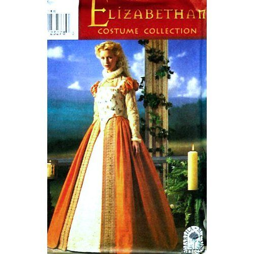 Amazon.com: Simplicity 8881 Historical Elizabethan Gown Costume Sewing Pattern Size 6-12: Arts, Crafts & Sewing