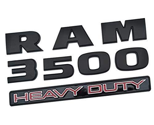 Yuauto Dodge Ram 2500 Emblems,3D Badge Decals Nameplates Letter Automotive Emblem Replacement for Dodge