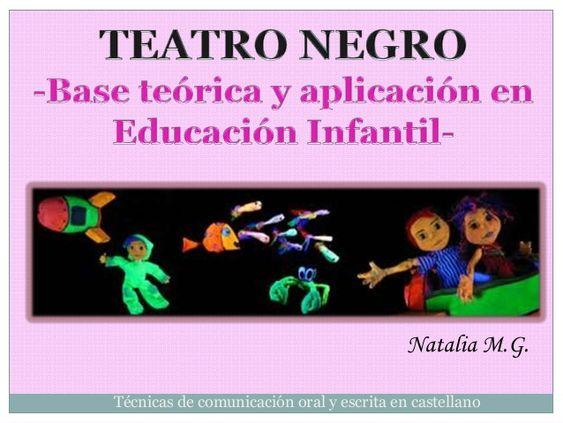 Teatro negro. Base teórica y aplicación en EI